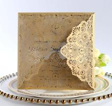 Laser cut marriage wedding glitter engagement invitation <strong>card</strong>