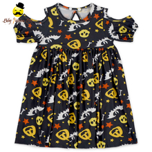 48BQA328-2 Yihong Summer Off Shoulder Plain Floral Halloween Girl Party Wear Western Dress Baby Children Frocks Designs In India