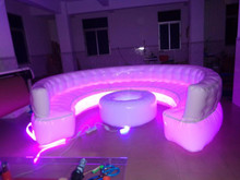 Led lighting Inflatable Replica sofa , advertising party lighting sofa, round sofa model