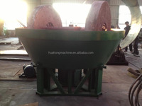 energy-saving 1200 model Gold Ore/Mineral Cone Wet Pan Grinding Mill For Sale