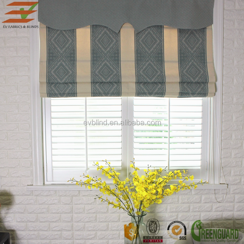Aluminum alloy roller tube fabric roman blinds and shades