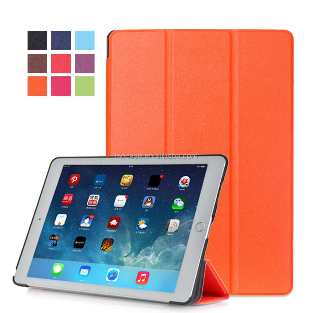 Tri-Fold Hot New product china manufacture leather tablet case For iPad Pro Case 12.9 inch