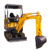 W218 1.8Ton garden Mini excavator with Perkins engine