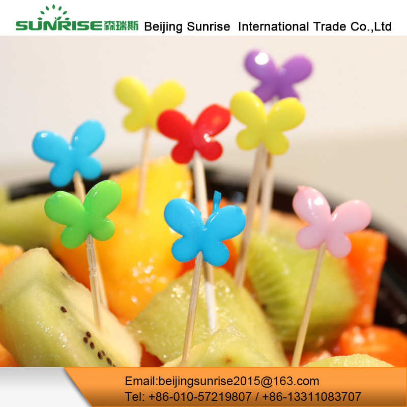 Wholesale China Colorful Ball Decoration Party Bamboo Cocktail Fruit Picks