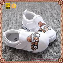 kids white canvas shoes without lace made in China