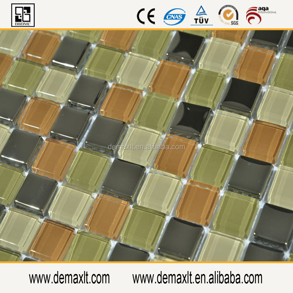 black ice jade 25x25 mosaic tiles colored glass pieces for crafts