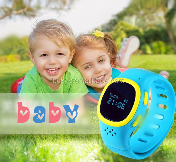 2015 Hot kids smart watch android IOS best gift for Kids GPS bracelet phone emergency security SOS button bluetooth mobile phone