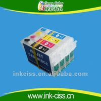 Refillable ink cartridge for epson T22 TX120 T1321