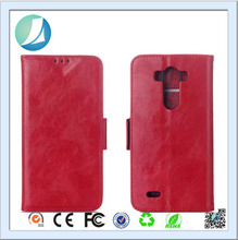 Guangzhou Mobile Phone Accessories Wholesale Smooth Skin Wallet Leather Flip Case for LG G3
