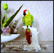 2014 China Supplier new products parrot decoration wholesale poly resin