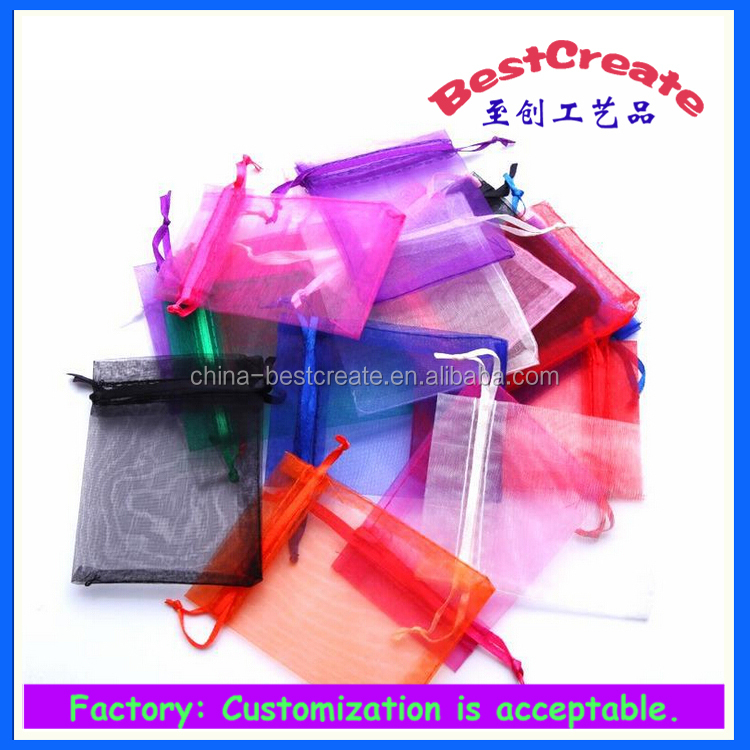 Plain Surface Handling and Accept Custom Organza Pouch