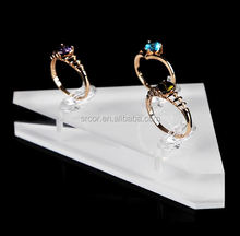 customized acrylic high heel shoe ring display wholesale