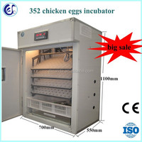 Top selling 350 eggs full automatic duck egg incubator and hatching machine for sale