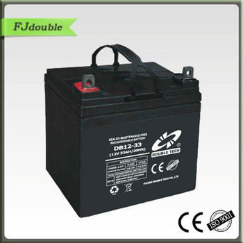 12 33Ah maintenance free battery, rechargebale vrla battery