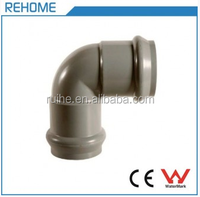 Rubber Ring PVC Socket 90 Elbow Pipe Brass Fitting F/F for Water System