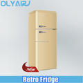 BCD-210 retro fridge, double door refrigerator