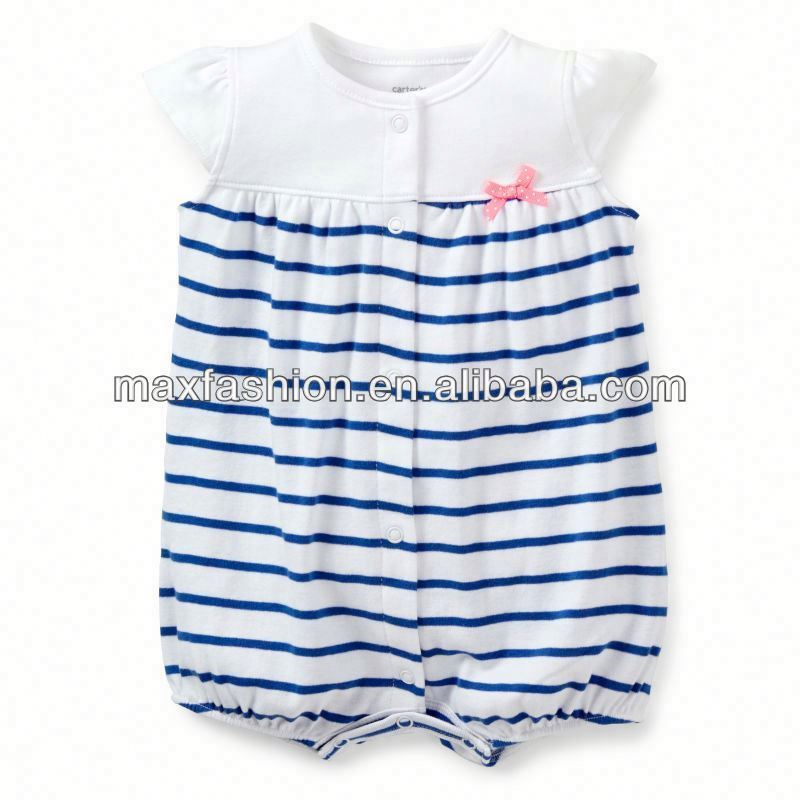 Snap-Up Striped Creeper W&Be stripes,baby clothing,Baby clothes