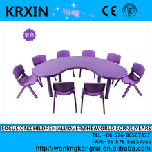 kids plastic study table and chair sets/kids moon table