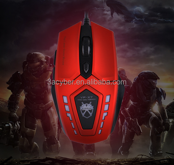 VP-X7 Brand Original USB Wired Professional 6 Buttons 2400 dpi Red Super Optical Gaming Mouse