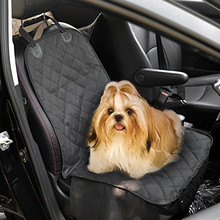 "54""W X 58""L Universal fit pet dog car front seat covers in black color"
