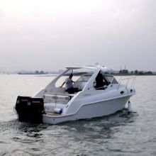 WATERWISH boat QD27 CABIN Fibreglass Speed Boat With CE Certificate