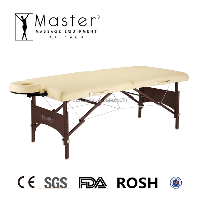 Master Wooden Memory Foam Portable Folding Beauty Massage Table Couch Bed