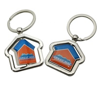 Brand New With High Quality Rotate House Keychain