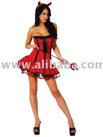 Fancy Dress Sexy Female Devil Costume Outfit