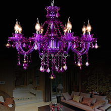 New Color! Purple Color Luxury K9 Crystal Chandelier for Hotel Lobby Home