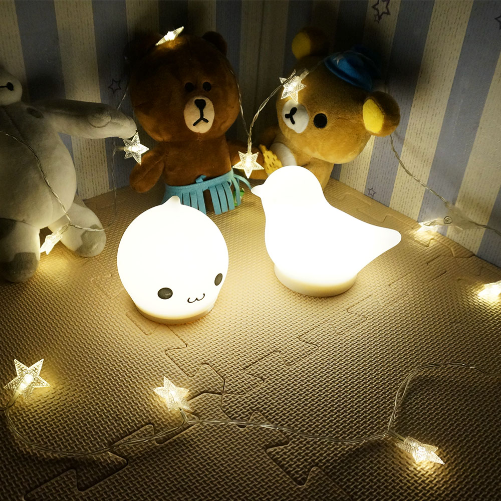 FAD standard 7 color custom cute silicone led baby night light
