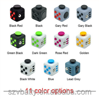 trending wholesale 3D magic full color Fidget Cube with high quality