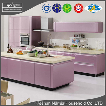 european style kitchen with wall hanging cabinet for lacquer kitchen cabinet