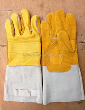 Cowhide Split Heavy Duty Industrial Safety Driver Working Leather Welding Gloves