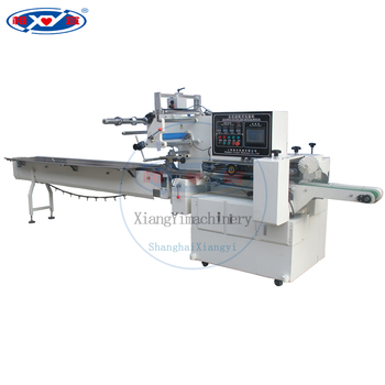 Automatic film bag sealing and cutting wet tissue wrapping flow pillow packing machine