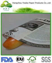 Greaseproof News Printing Paper For Hamburger Wrap