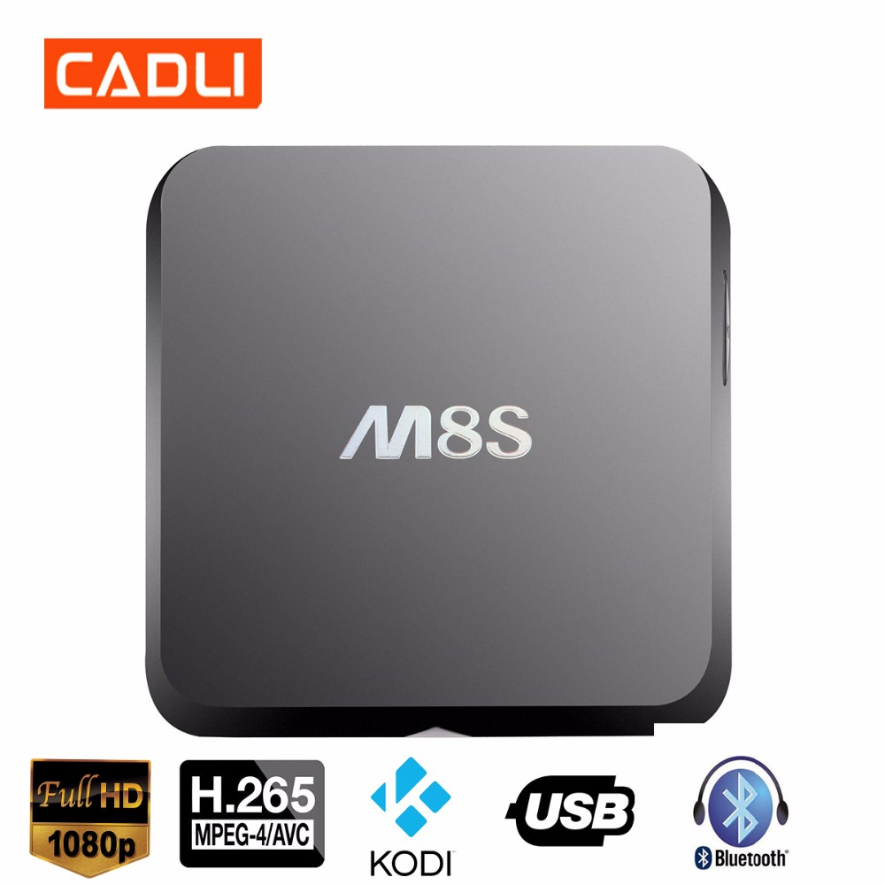 CADLI10 Free Full HD 4K Video Movie ,Indian Arabic IPTV Android 6.0 Global Tv Box M8S Digital Converter With Youtube and Kodi