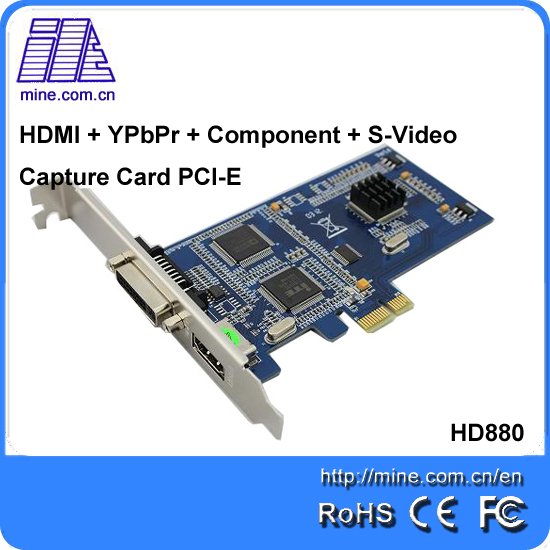 Multiple-Interface 1080I 60fps video capture card with HDMI + YPbPr + Component + S-Video input