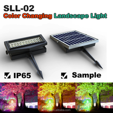44pcs RGB LED solar flood lights with panel with battery