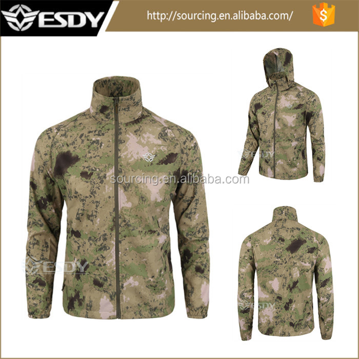 Men Waterproof Unisex Ultra-thin Breathable Hunting Military Camo Jacket