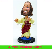 polyreisn custom funny dashboard bobble head famous people bobble head Dogma Buddy Christ jesus bobble head for sale