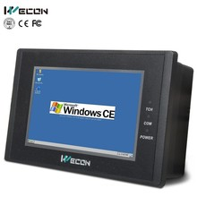 "Wecon 4.3"" inch fanless mini pc wince 5.0 system operator interface panel"