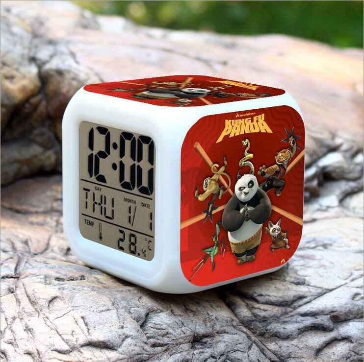 (Top Quality) European and American Movie Kongfu Panda Alarm Clock, Digital Alarm Clock , Kongfu Panda Toy Clock