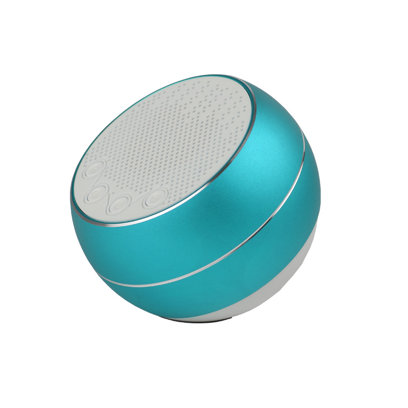 newest colorful small round mini portable wireless bluetooth speaker with fm radio