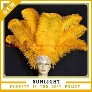 Decorative Orange Ostrich Feathers For Hats Vase Filler Centerpiece