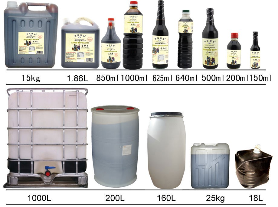200L big drum zero additive soy sauce