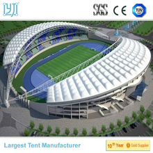 steel membrane structure shelter tent for soccer