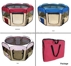 600D Heavy Duty Oxford Cloth Foldable & Portable Pet Playpen - Assorted Colors