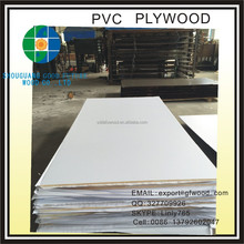 HIGH QUALITY PVC LAMINATED FACED PLYWOOD SHEET