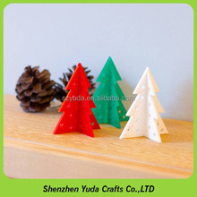 Acrylic colorful hanging bauble decoration acrylic christmas pine tree