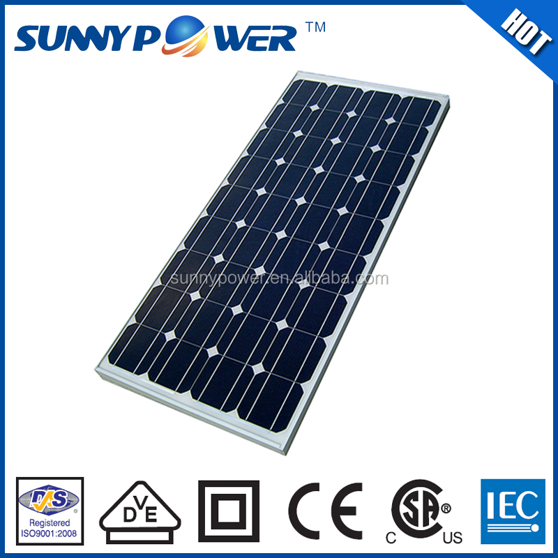 New design 156x156mm cell monocrystalline cheap small solar panel